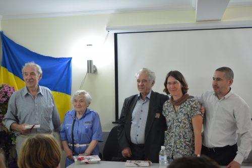 V.l.n.r.: Roman Švarcman, Roza Chasina, Vassilij Vološin, Dr. Ulrike Huhn und Dr. Pavel Kozlenko. Foto: Anna-Sophie Koschany