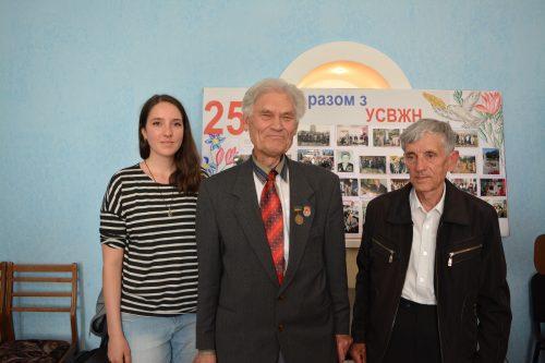 Lisa Gernert, Mykola Vasylovych Priadko und Viktor Hryhorovych Semenenko Foto: Anna-Sophie Koschany